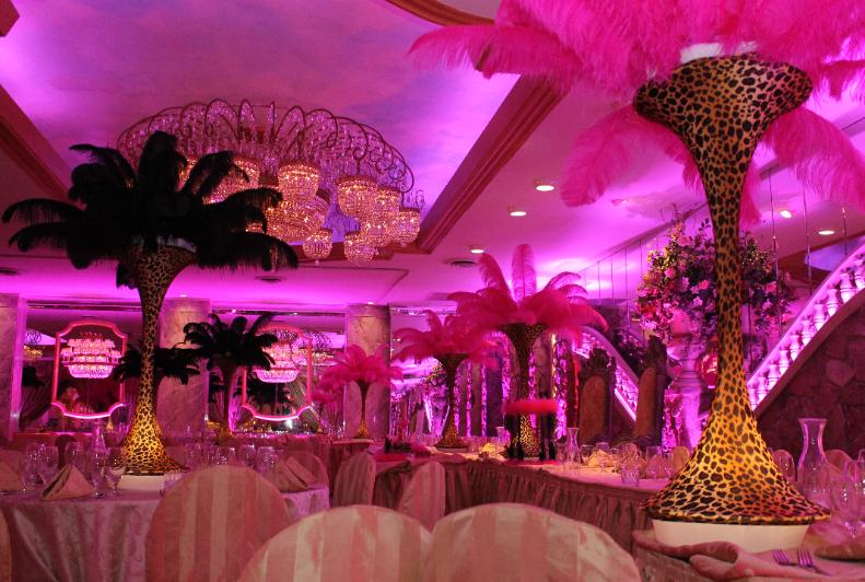 Feather centerpices long island centerpiece rentals